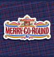 logo for merry-go-round carousel vector image vector image