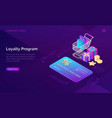 loyalty program isometric discount card banner vector image vector image