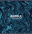 marble texture background deep blue and fluid vector image