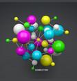 molecule 3d concept template vector image vector image