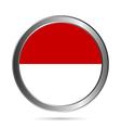 Monaco flag button vector image