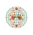 otomi style ethnic mexican tapestry embroidery vector image