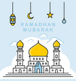 ramadhan-background vector image vector image