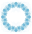 Russian national circular ornament with empty vector image vector image