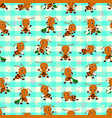 seamless pattern with ant cartoon vector image