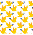 seamless pattern with doves peace vector image vector image
