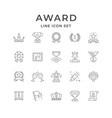 set line icons award
