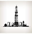 Silhouette Drilling Rig vector image vector image