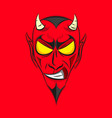 smiling devil head vector image vector image