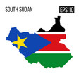 south sudan map border with flag eps10 vector image