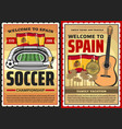 spain travel posters spanish culture landmarks vector image