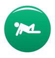 stick figure stickman icon green vector image