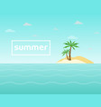 summer holidays view poster with sea and sky vector image