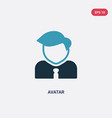 two color avatar icon from strategy concept vector image vector image