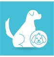 veterinary clinic concept dog character vector image
