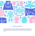 virtual reality concept banner in flat style vector image