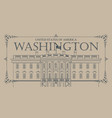 white house washington dc with flag vector image