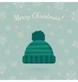 Winter hat on winter backdrop vector image vector image