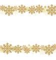 winter snowflake border vector image vector image