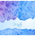 Winter watercolor background vector image vector image