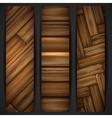 Wooden texture banner vector image vector image