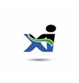 Xi logo vector image vector image