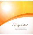 Flyer template back front design in orange colors vector image