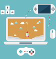 Abstract flat of game development concepts Design vector image