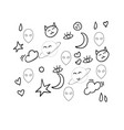 a black and white doodle or color vector image vector image