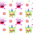 A seamless design with monsters vector image vector image