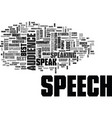 after the speech text word cloud concept vector image vector image