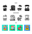 amusement and store symbol vector image