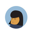 asian business woman profile icon isolated chinese vector image