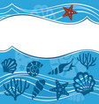 background with marine animals summer background vector image vector image