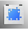 banner blue frame background puzzle jigsaw vector image vector image