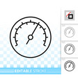 barometer simple black line icon vector image
