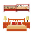 bed icon set interior home rest collection vector image vector image