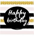 birthday postcard gold glitter vector image vector image
