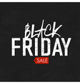 black friday blackboard vector image vector image