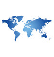 blue simplified silhouette of world map vector image vector image