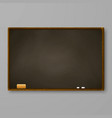 brown chalkboard on gray wall blackboard with vector image