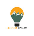 bulb mountain logo design vector image