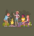 campfire outdoor fun vector image vector image