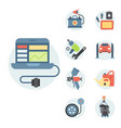 car service parts flat auto vector image