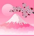 card with sakura branch vector image