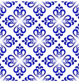 ceramic tile pattern damask style vector image vector image