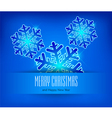 christmas ornament blue background 10 SS v vector image