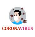 corona virus vector image vector image