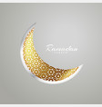 creative moon design for ramadan kareem festival vector image vector image