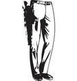drawing of elegant man pants posing vector image
